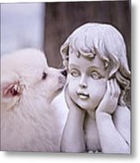 Puppy And Angel  Metal Print