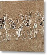 Puppy Brigade Metal Print