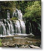 Purakaunui Falls And Tropical Metal Print