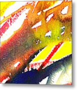 Pure Color Inspiration Abstract Painting Linea Forces Metal Print