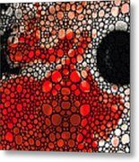 Pure Passion 2 - Stone Rock'd Red And Black Art Painting Metal Print by Sharon Cummings