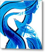 Pure Water 302 - Blue Abstract Art By Sharon Cummings Metal Print