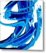Pure Water 304 - Blue Abstract Art By Sharon Cummings Metal Print