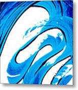 Pure Water 315 - Blue Abstract Art By Sharon Cummings Metal Print