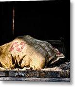 Purina Feed Sack In Loft Metal Print