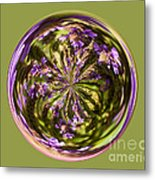 Purpble Wildflower Orb Metal Print