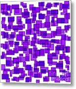 Purple Abstract Metal Print by Frank Tschakert