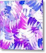 Purple Abstract Paint Pattern Metal Print