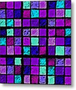 Purple And Aqua Sudoku Metal Print