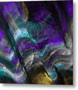 Purple And Cyan Metal Print