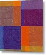 Purple And Orange Get Married Metal Print