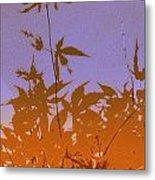 Purple And Orange Haiku Metal Print