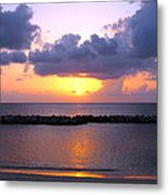 Purple And Pink Sunset Caribbean Dream Metal Print