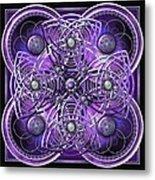 Purple And Silver Celtic Cross Metal Print
