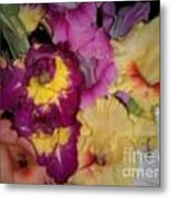 Purple And White Flowers Metal Print