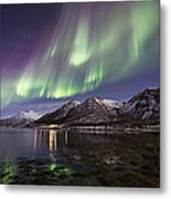 Purple Auroras Metal Print