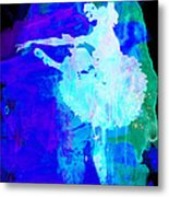 Purple Ballerina Watercolor Metal Print