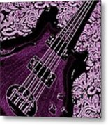 Purple Bass Metal Print
