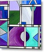 Purple -blue -green  Abstract 2 Metal Print