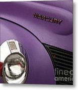 Purple Bomb Metal Print