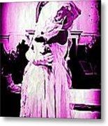 Purple Bride Metal Print