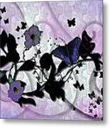 Purple Butterflies Metal Print