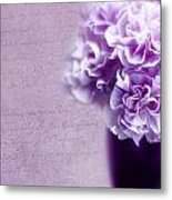 Purple Carnations Metal Print