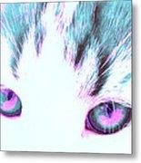 Purple Cat Eyes Metal Print
