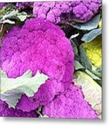 Purple Cauliflower Metal Print