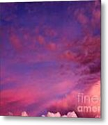 Purple Clouds Majesty Metal Print