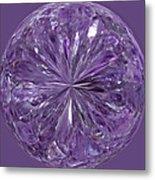 Purple Crystal Gem Metal Print