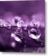 Purple Droplets Metal Print