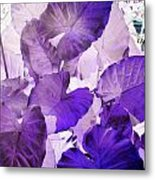 Purple Elephants Metal Print