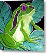 Purple Eyed Frog Metal Print