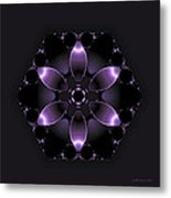 Purple Fantasy Flower Metal Print