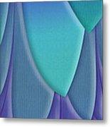 Purple Feathers Metal Print