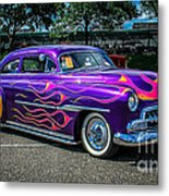 Purple Flame Metal Print