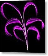 Purple Flaring Plant Metal Print