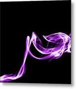 Purple Flash Metal Print