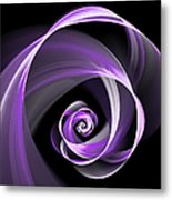 Purple Flirt Metal Print