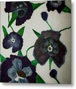Purple Floral Burst Metal Print