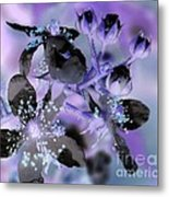 Purple Flower Abstract  2 Metal Print