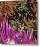 Purple Flower Abstract Metal Print
