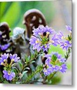 Purple Flowered Angel Metal Print