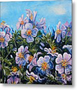 Purple Flowers Metal Print by Drinka Mercep