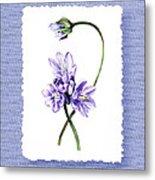 Purple Flowers Serenade Botanical Impressionism Metal Print