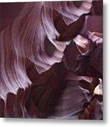 Purple Folds Metal Print