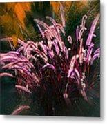 Purple Fountain Grass Fantasy Metal Print