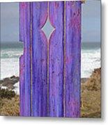 Purple Gateway To The Sea  Metal Print