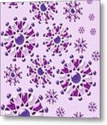 Purple Gems Metal Print